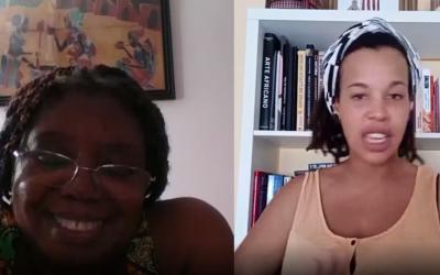 Conversatorio con Remei Sipi por el día de la mujer africana,sobre literatura de mujeres africanas, literatura guineana…